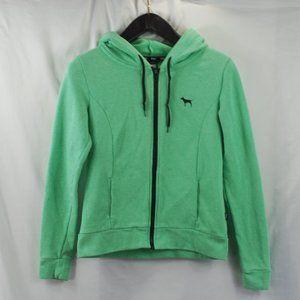 VS Pink | Green Full Zip Hoody Sweatshirt sz XS